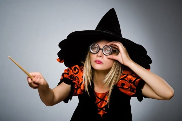 Witch doing her dirty tricks