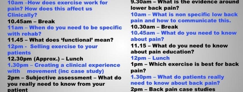FTM Course Schedule